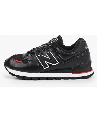 Кожаные черные кроссовки New Balance