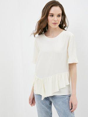Бежевая блузка с короткими рукавами Adl