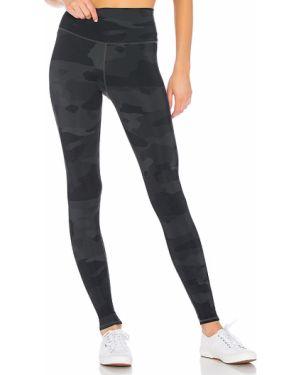 Sportowe spodnie z wysokim stanem kamuflaż Alo