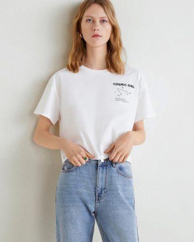 Белая футболка 2019 Mango