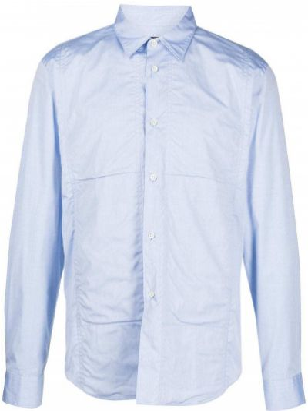 Niebieska koszula bawełniana z długimi rękawami Comme Des Garcons Homme Deux