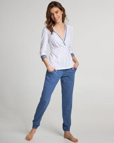 Пижамная хлопковая пижама с брюками с карманами Ellen