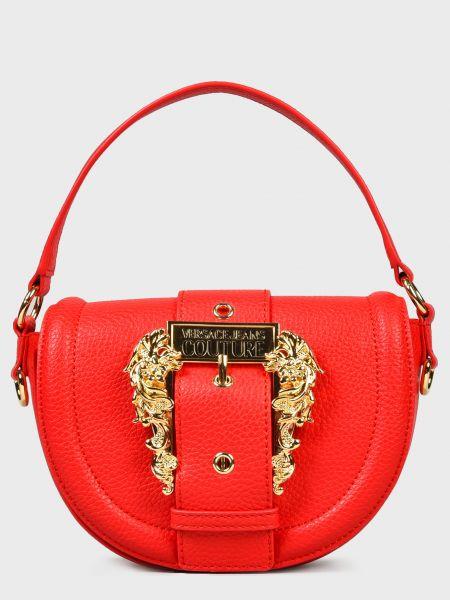 Кожаная сумка - красная Versace Jeans Couture