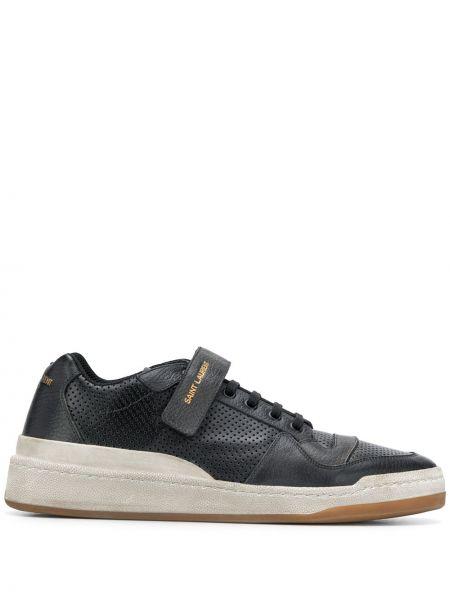 Skórzane sneakersy białe sznurowane Saint Laurent