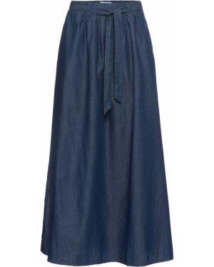 Джинсовая юбка макси синяя Bonprix