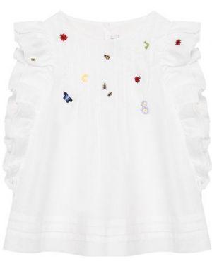 Хлопковая белая блуза с подкладкой Il Gufo