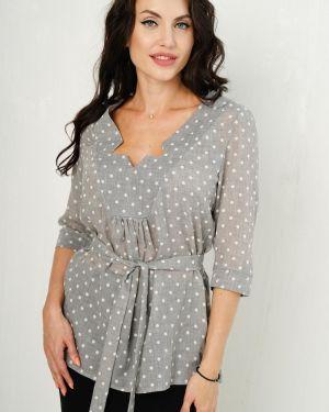 Блузка с поясом в горошек Taiga