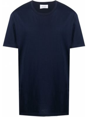 Темно-синяя прямая рубашка с короткими рукавами Harmony Paris