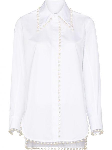 Хлопковая рубашка - белая Rosie Assoulin