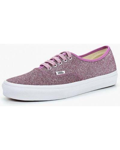 Розовые низкие кеды Vans