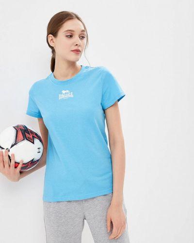Голубая футболка Lonsdale