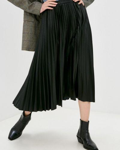 Черная кожаная юбка Banana Republic