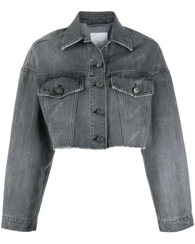 Черная джинсовая куртка на пуговицах Gaelle Bonheur