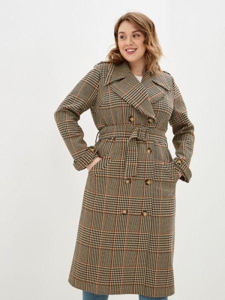 Бежевое пальто с капюшоном Bezko