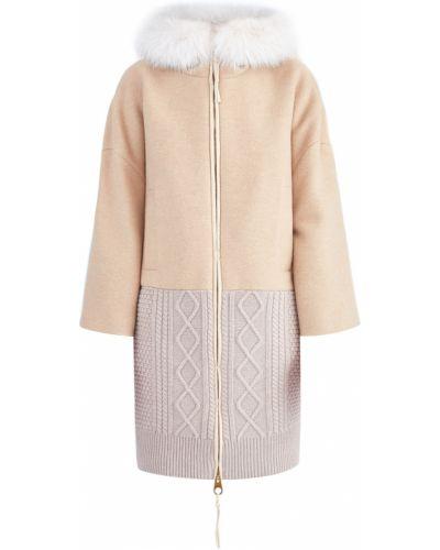 Пальто с капюшоном свободное шерстяное Agnona