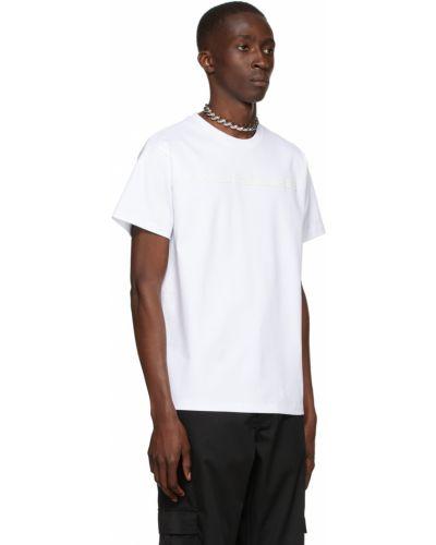 Biała t-shirt bawełniana krótki rękaw Mugler