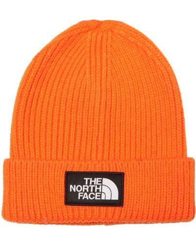 Вязаная шапка с отворотом яркая The North Face