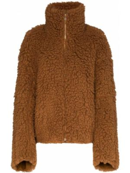Коричневая куртка на молнии с воротником Eckhaus Latta