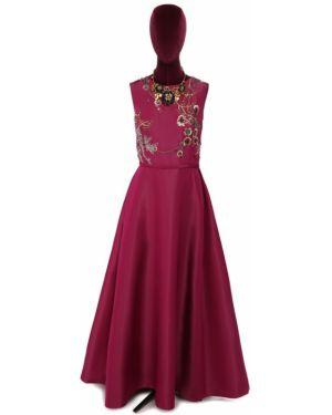 Платье в рубчик шелковое Oscar De La Renta