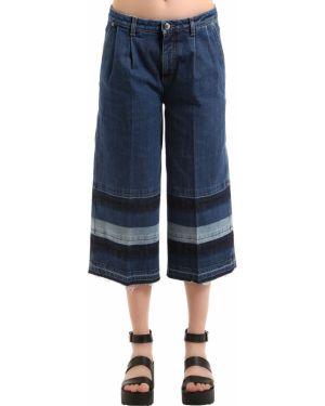 Niebieskie jeansy w paski rozkloszowane Sonia Rykiel
