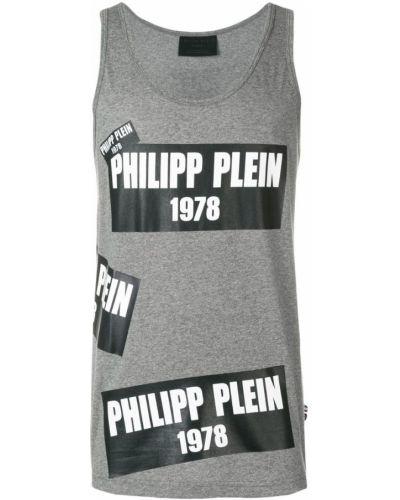 Топ серый Philipp Plein