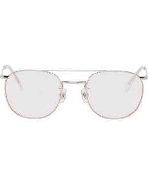 Okulary przeciwsłoneczne srebro różowy Wacko Maria