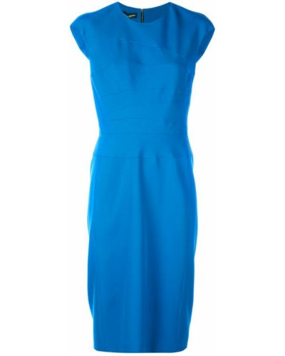Зауженное платье миди - синее Narciso Rodriguez