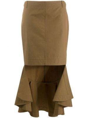 Юбка миди с завышенной талией с воланами Givenchy