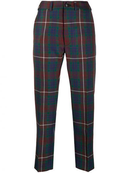 С завышенной талией коричневые укороченные брюки с поясом Vivienne Westwood