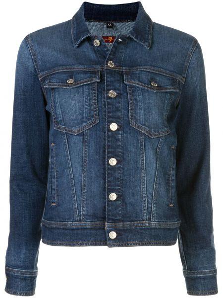 Синяя джинсовая куртка 7 For All Mankind