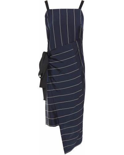 Ватное асимметричное хлопковое платье Mcq Alexander Mcqueen