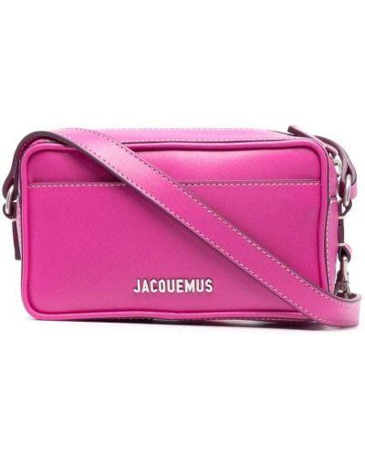 Różowa torebka crossbody skórzana Jacquemus