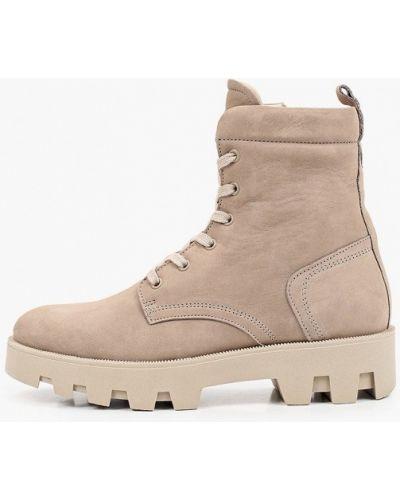 Кожаные ботинки - бежевые Marc O`polo