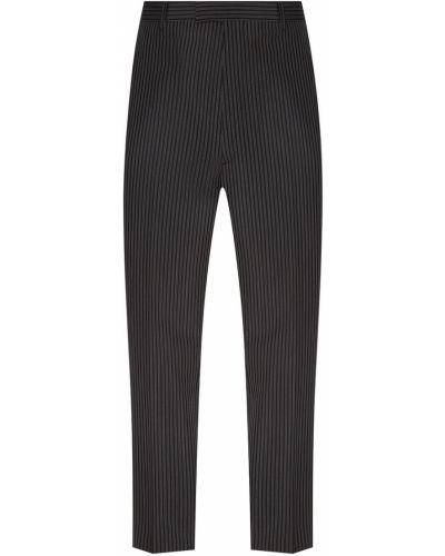 Прямые брюки с карманами серые Prada