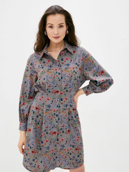 Платье платье-рубашка серое Trendyangel