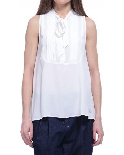 Блузка из вискозы белая Trussardi Jeans