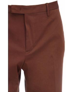 Brązowe spodnie bawełniane z paskiem Pantaloni Torino
