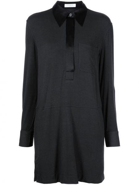 Черное платье с воротником Equipment