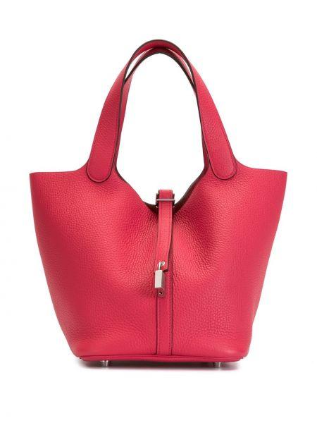 Сумка-тоут с ручками красная Hermès