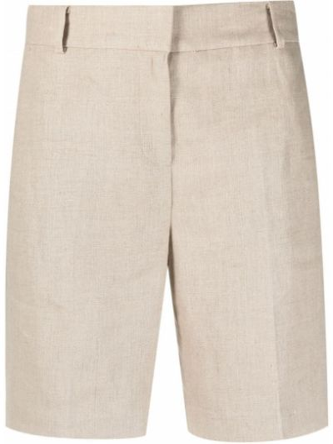 Бежевые льняные шорты с карманами Michael Michael Kors