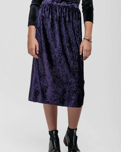 Плиссированная юбка фиолетовый Sfn