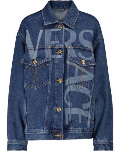 Синяя хлопковая куртка Versace