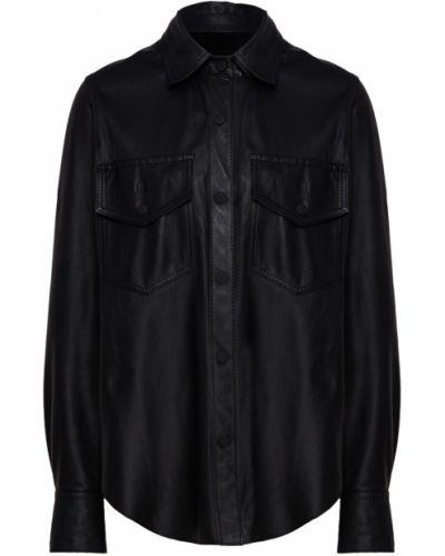 Рубашка с длинным рукавом на кнопках кожаная Beribegi