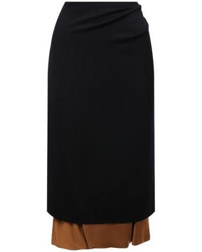 Шерстяная юбка - черная Dries Van Noten