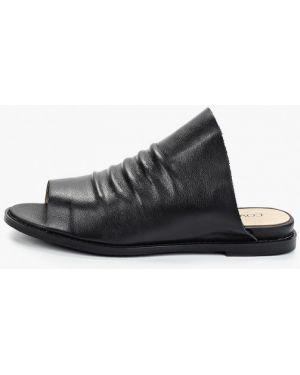 Сабо черные кожаные Covani