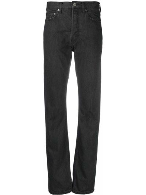 Czarne jeansy z paskiem bawełniane Ambush