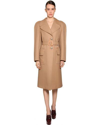 Шерстяное пальто с карманами с лацканами Givenchy