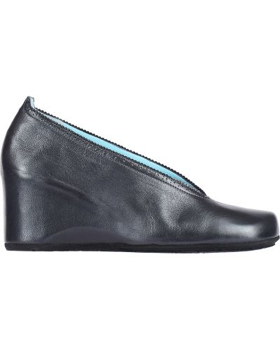 Туфли на каблуке кожаные серые Thierry Rabotin