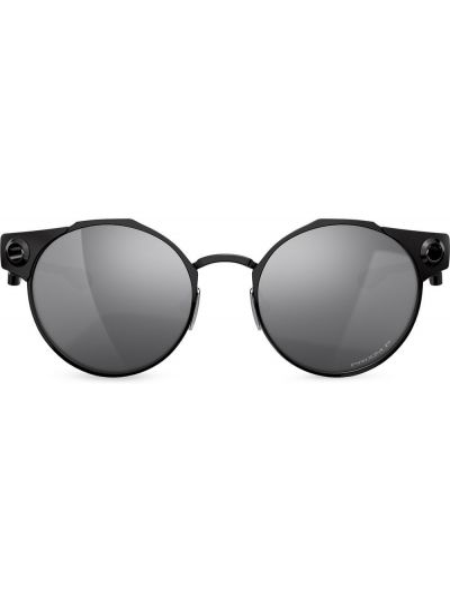 Черные солнцезащитные очки круглые Oakley
