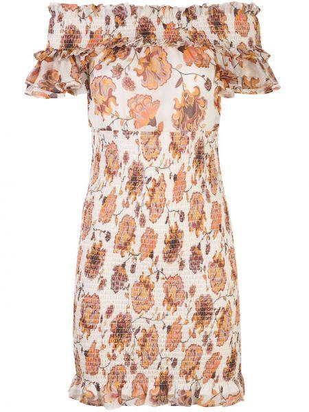 Приталенное плиссированное платье мини с декоративной отделкой Shona Joy